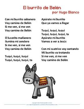 El Burrito De Belén Lyrics By The Storyteller S Corner Tpt
