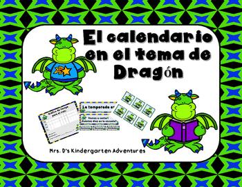 El calendario en el tema de Dragón