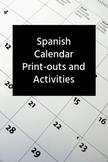 Spanish Calendar, Days Months, Weather and Seasons Bundle