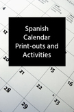 Spanish Calendar, Days Months, Weather and Seasons Bundle