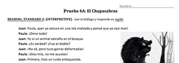 "El chupacabras - Superstition unit on ""chupacabras"" and Preterit with pronouns"