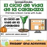 El ciclo de vida de la calabaza Spanish Pumpkin lifecycle Reader & vocab pages