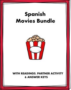 El cine y actores Lecturas - Movies Spanish Reading Bundle - 3 Readings!