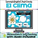 El clima / el tiempo | Spanish Weather Vocabulary Digital Boom Cards with Audio