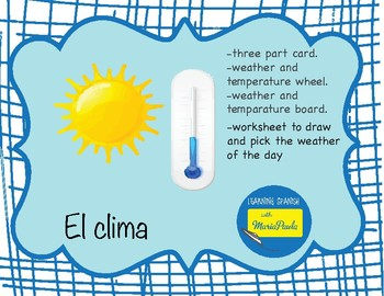 El clima (the weather)