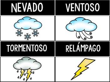 El clima y las estaciones (Weather and 4 Seasons)