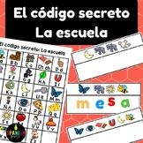 El código secreto: Escuela (Spanish Secret Code Words School Vocabulary Center)