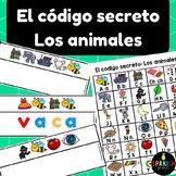 El código secreto: Los animales (Spanish Secret Code Words Animals Center)