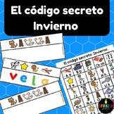 El código secreto: invierno (Spanish Secret Code Words Winter Center)