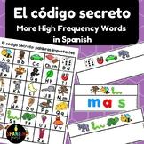 El código secreto: mas palabras de uso frecuente (Spanish Secret Code More HFW)