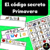 El código secreto: primavera (Spanish Secret Code Words Spring Center)