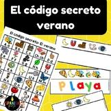 El código secreto: verano (Spanish Secret Code Words Summer Center)