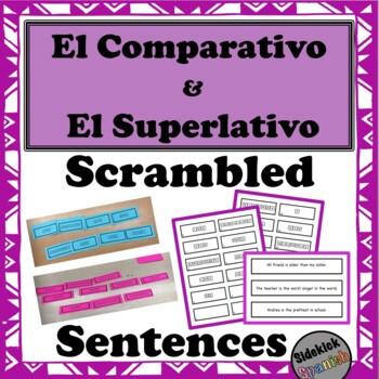 El comparativo superlativo - Scrambled Sentences