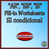 Conditional Verb Tense Fill-In Organizers - El condicional