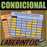 El condicional: Conditional Tense Verb Mazes in Spanish