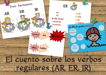 El cuento sobre los verbos regulares. A tale about regular verbs in Spanish.