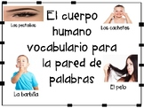 El cuerpo humano para la pared de palabras