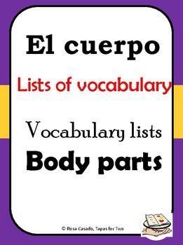 El cuerpo vocabulary list