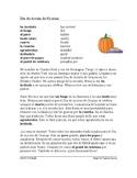 El Día de Acción de Gracias Lectura - Thanksgiving Easy Spanish Reading