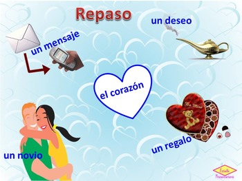 El día de los enamorados Valentine's Day vocabulary