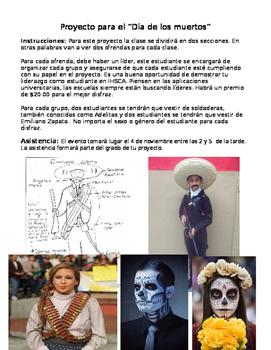 El dia de los muertos: Ofrenda Project in Spanish