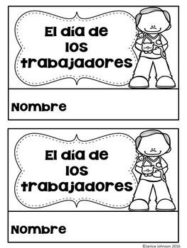 El día de los trabajadores {en español} Spanish Labor Day Reader & Cut/Paste