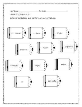El diminutivo y el aumentativo