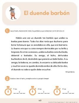 El duende barbón: Spanish Reading Guide