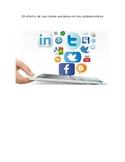 El efecto de las redes sociales en los adolescentes