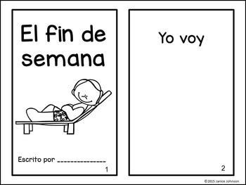 El fin de semana Spanish Weekend Reader & Build-A-Book