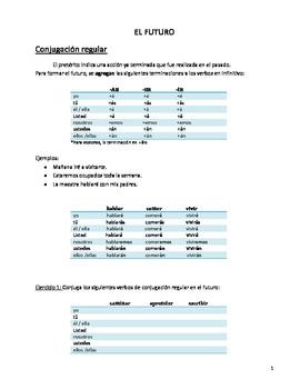 El futuro. Gramática de EL FUTURO SIMPLE en español. The F
