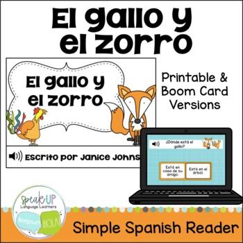 El gallo y el zorro ~ Spanish Rooster & the Fox Fable Reader ~Simplified