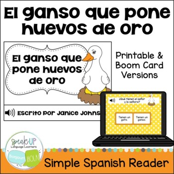 El ganso que pone huevos de oro Reader ~Spanish Goose who Lays Golden Eggs Fable