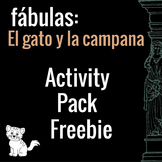 El gato y la campana Free Activity Pack (Belling the Cat in Spanish)