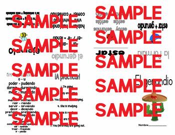 El gerundio / Gerund Spanish study booklet (paper folding)
