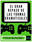 El gran repaso de las formas - (a self-paced grammar revie