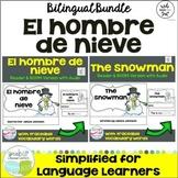 El hombre de nieve ~ The Snowman Readers {Bilingual} + BOOM Task Cards w Audio