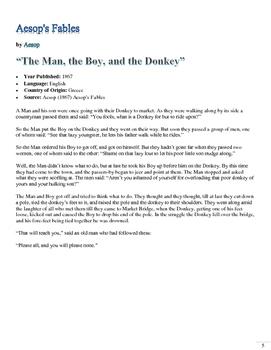 El hombre, el niño y el burro - Preterite vs Imperfect