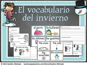 El invierno / Bilingual Kindergarten + ESL Resources for B
