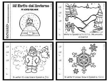 El invierno minibook - Winter (christmas, new year)