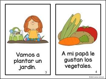El jardín ~ Spanish Garden & Vegetable Reader, Sorting page & Song {en español}