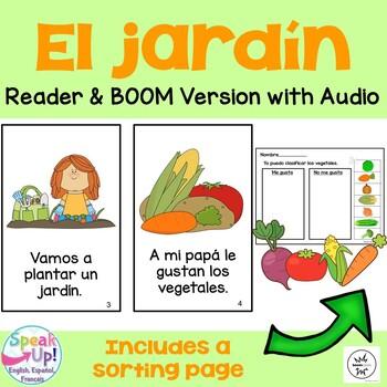 El jardín ~ Spanish Garden & Vegetable Reader, Song {en español} + BOOM™ w Audio