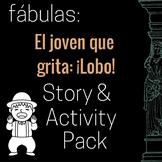 El joven que grita lobo Story and Activity Pack (Boy Who C