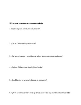 El laberinto del fauno/Pan's Labyrinth Viewing Questions in Spanish