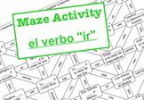 El laberinto - el verbo ir (Maze Activity ir - to go present tense)