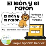 El león y el ratón~ Spanish Lion & the Mouse Fable Reader ~Simplified