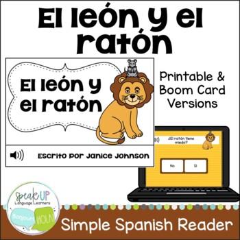 El león y el ratón~ Spanish Lion & the Mouse Fable Reader