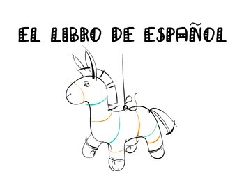 El libro de Espanol- An end of the year Spanish book- review vocabulary