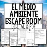 El medio ambiente Spanish break out room escape activity