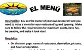 El menú Project